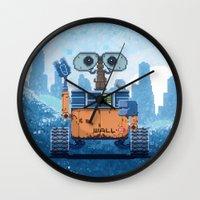 wall e Wall Clocks featuring Wall-e by LAckas