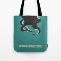 ursula Tote Bags featuring Disney Villains- Ursula by Tessa Simpson