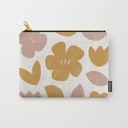 modern abstract flower print Carry-All Pouch