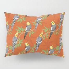 Cockatiel birds diagonal pattern Pillow Sham