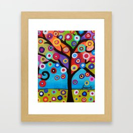 Whimsical Tree of Life Arbol la Vida Painting Framed Art Print