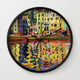 Auguste Herbin - The Quays of the Port of Bastia Wall Clock