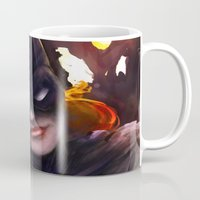 batgirl Mugs featuring Batgirl by Nicole M Ales