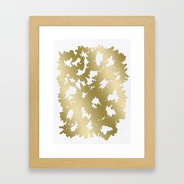 Gold Flowers Framed Art Print