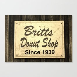 Britt's Donut Shop Sign 3 Canvas Print