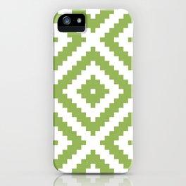 Greenery Aztec iPhone Case
