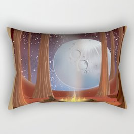 Finland camping poster Rectangular Pillow