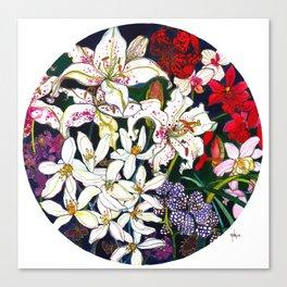 Lilies & Orchids Canvas Print