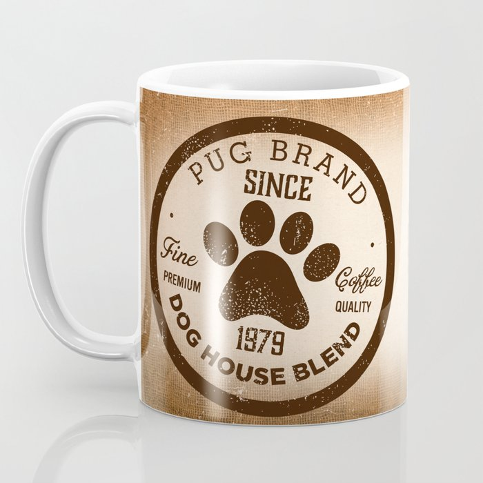 Pug Coffee company dog artwork by Stephen Fowler Coffee Mug