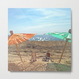 Beach Bump Metal Print