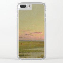 Martin Johnson Heade - Salt Marsh At Southport  Connecticut Clear iPhone Case