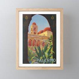 vintage 1920s Palermo Sicily Italian travel ad Framed Mini Art Print