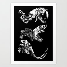 Prehistoric Bloom (Black version) Art Print