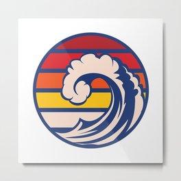 Ride the Wave Metal Print