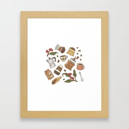 Coffee Break Pattern  Framed Art Print