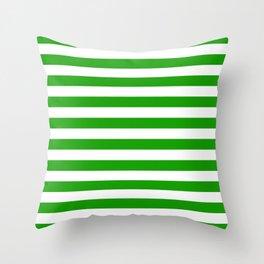 Stripes Texture (Green & White) Throw Pillow