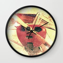 Little Red Biplane // Airplane Wall Clock