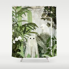 There's A Ghost in the Greenhouse Again Shower Curtain