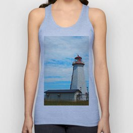 Red Light of North Cape Lighthouse Unisex Tank Top