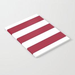 University of Alabama Crimson - solid color - white stripes pattern Notebook