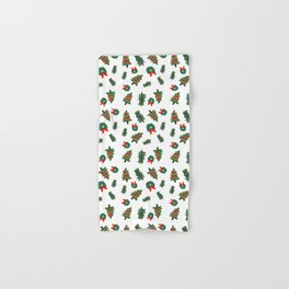Cute Christmas Foliage Print Hand & Bath Towel