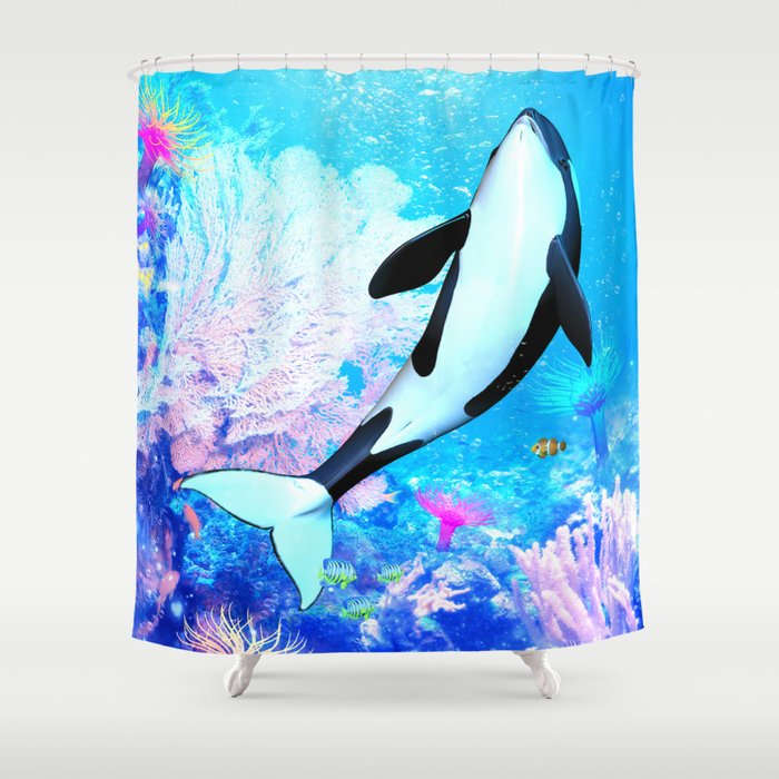 Orca 3 Shower Curtain