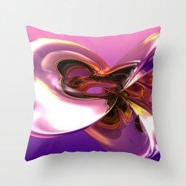 3D Chrome Bronze Abstract Sculpture Ultra HD Throw Pillow