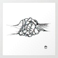 Handholding Art Print