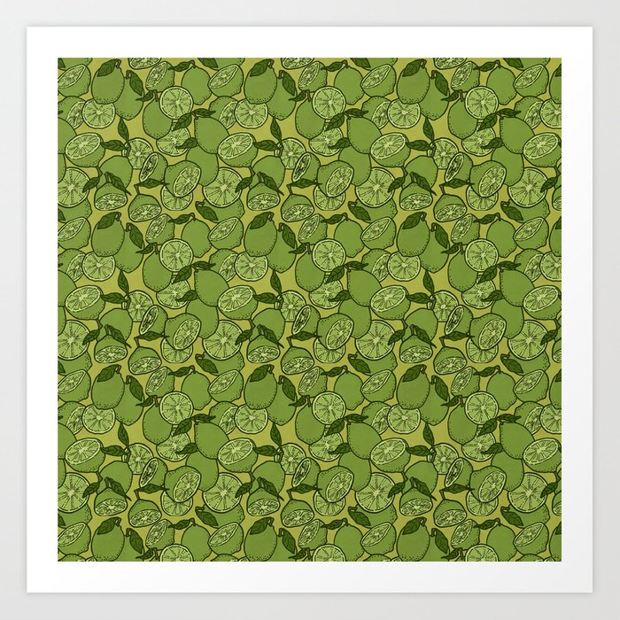 Lime Greenery Art Print