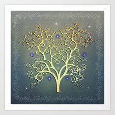Twilight Tree Art Print