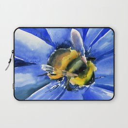 Bee and Blue Flower Laptop Sleeve