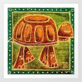 Desert Tortoise Oil Pastel Art Print