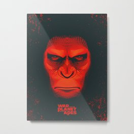 War for the Planet of the Apes Metal Print