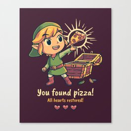 The Legendary Pizza Canvas Print