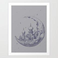 An Arabian Crescent Art Print