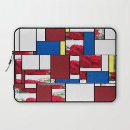 Red Rose Edges Art Rectangles 4 Laptop Sleeve