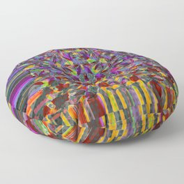 Pot leaves and pixel pattern variant Floor Pillow