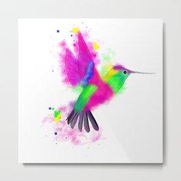 Abstract Humming Bird Metal Print