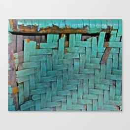 Worn Weave Canvas Print