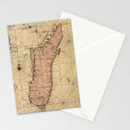 Vintage Map of Madagascar (1679) Stationery Cards
