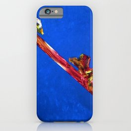 African American Masterpiece 'Untitled' abstract landscape painting by E.J. Martin iPhone Case