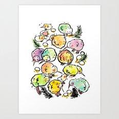 Kiwi Family Art Print