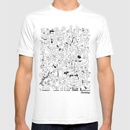 The Drawbridge - Doodle Poster B/W T-shirt
