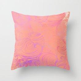 Free Flow V1 Throw Pillow