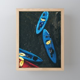 Kayaks From Above Framed Mini Art Print