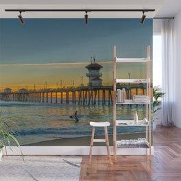 Surfer's Sunset Wall Mural