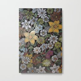 Flowers - Pattern Design - - Wild Veda Metal Print
