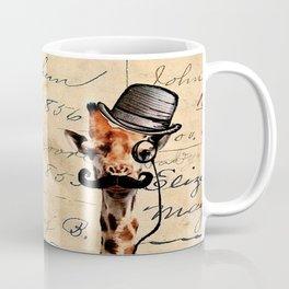 Giraffe Mustache Monocle Tophat Dandy Coffee Mug