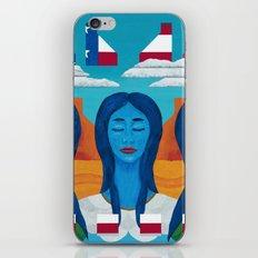 Blue Women iPhone & iPod Skin