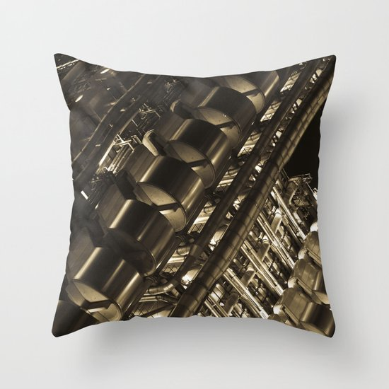 Gold Lloyds Throw Pillow
